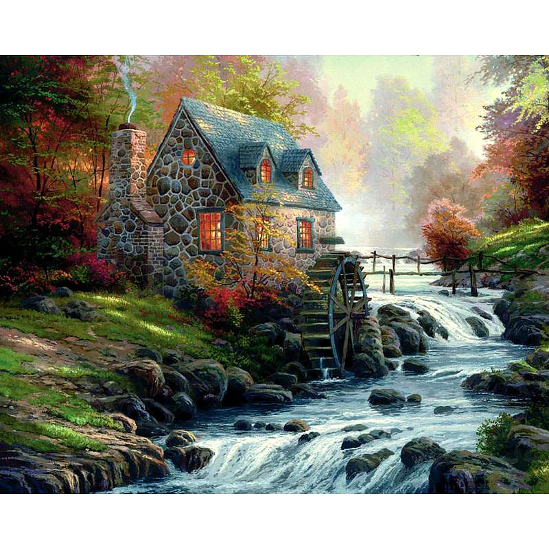 FOREST HOUSE - DIAMOND PAINTING KIT