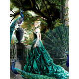 LADY IN EMERALD - DIAMOND PAINTING KIT