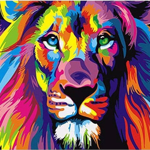 COLORFUL LION - DIY PAINT BY NUMBERS KIT