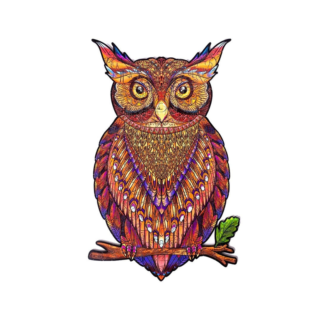 MYSTERIOUS OWL - WOODEN JIGSAW PUZZLE