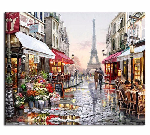 PARIS STREET - DIY PAINT BY NUMBERS KIT