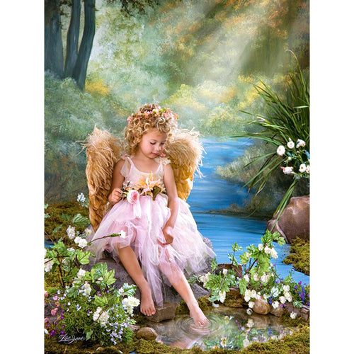 PLAYFUL ANGEL - DIAMOND PAINTING KIT