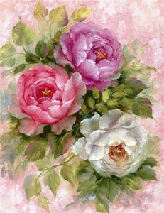 ROMANTIC FLOWERS - DIAMOND PAINTING KIT