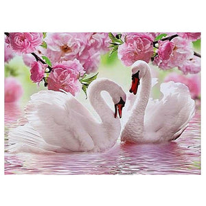 SWAN ROSES - DIAMOND PAINTING KIT
