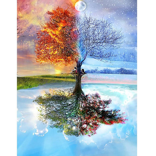 FOUR SEASONS TREE - DIAMOND PAINTING KIT
