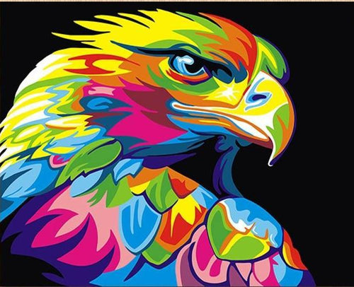COLORFUL EAGLE - DIY PAINT BY NUMBERS KIT