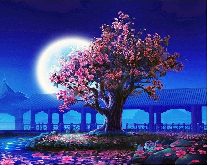 ROMANTIC MOON NIGHT - DIY PAINT BY NUMBERS KIT