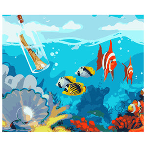 UNDERWATER WORLD - DIY PAINT BY NUMBERS KIT