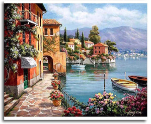 VENICE ROMANTIC SEASCAPE - DIY PAINT BY NUMBERS KIT