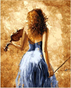 THE VIOLINIST - DIY PAINT BY NUMBERS KIT