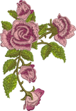 Classic Rose Garland Embroidery Motif - 01 -  Floral Illusions - by Sue Box