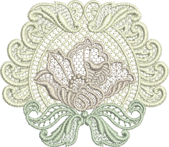 Lace Motif Embroidery design - 01 - Designer Lace - by Sue Box