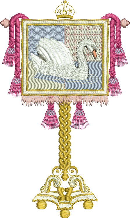 Knights Standard Embroidery Motif - 01 - A Romantic Era - by Sue Box
