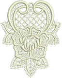 Lace - Abir Small Embroidery Motif - 02 - Just Lace - by Sue Box