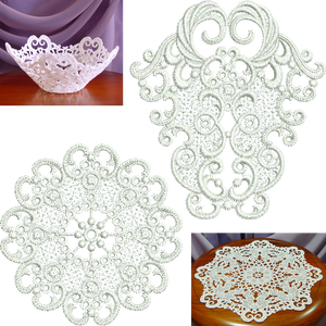 Lace - Large Lace Doily FSL Embroidery Motif - 02 - Specialty Lace by Sue Box