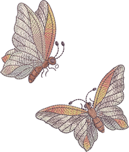 Mini Butterfly Embroidery Motif 1 & 2 -02 -  Embroidery Favourites by Sue Box