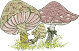 Fairy  Mushrooms Embroidery Motif - 02 - Enchanted Fairy Treasures - by Sue Box
