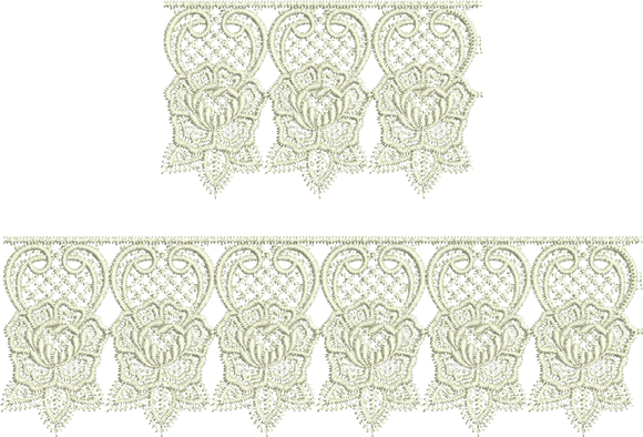 Lace Abir Borders Embroidery Motif - 03 - Just Lace - by Sue Box