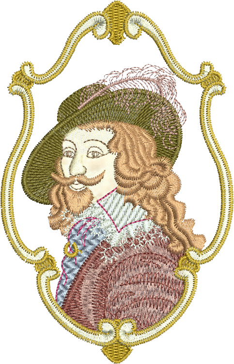 Sir Albert the Knight Embroidery Motif - 03 -  A Romantic Era - by Sue Box