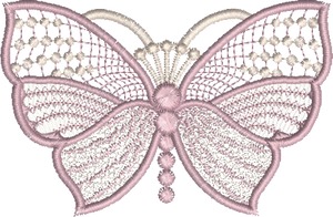 Butterfly Large Embroidery Motif - 03 - Boutique Butterflys by Sue Box