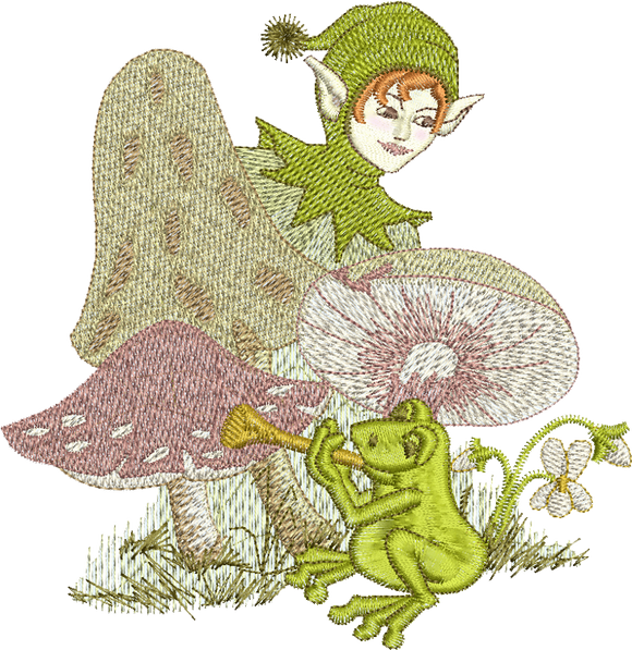 Fairy Fyfe Embroidery Motif - 03 - Enchanted Fairy Treasures - by Sue Box