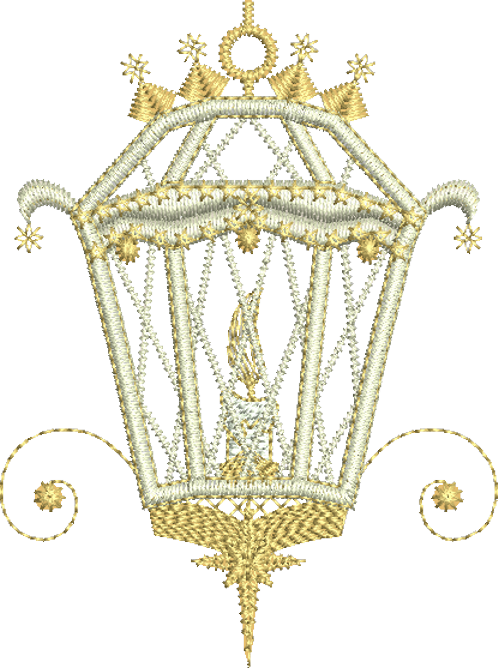 Christmas Lantern Embroidery Motif - 03 - Sparkling Christmas Collection by Sue Box