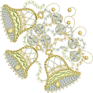 Christmas Bells Decorations 2 Embroidery Motif - 04 - Sparkling Christmas Collection by Sue Box