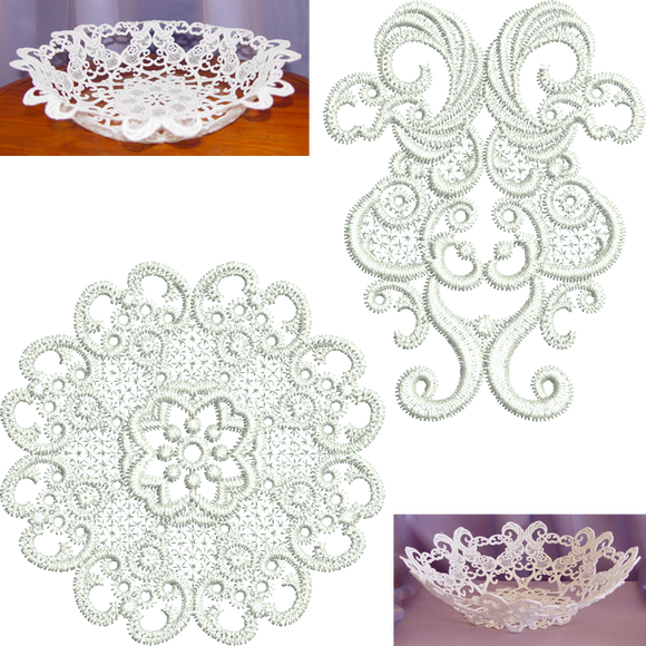 04 - Large Lace Bowl Set