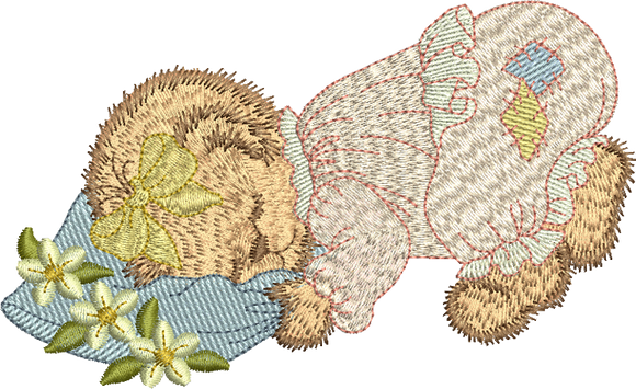 Teddy Bear Mandy Embroidery Motif - 04 - Timeless Teddy Bear Treasures - by Sue Box