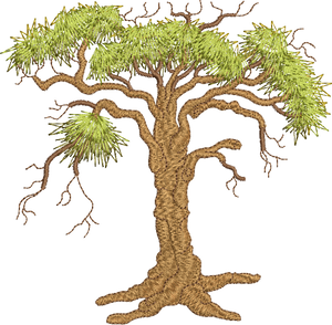 Oak Tree Embroidery Motif - 04 -  Woodland Treasures - by Sue Box