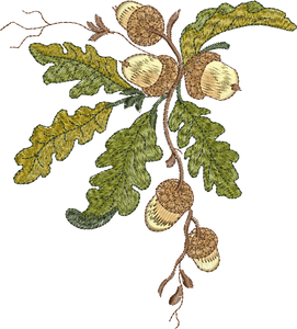 Acorn Corner Embroidery Motif - 05 -  Woodland Treasures - by Sue Box