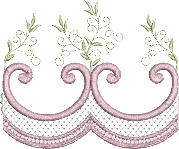 Classic Border Embroidery Motif - 05 -  Embroidery Inspirations - by Sue Box