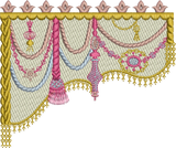 Drape-2 Sides Curtain Embroidery Motif - 05 -  A Romantic Era - by Sue Box