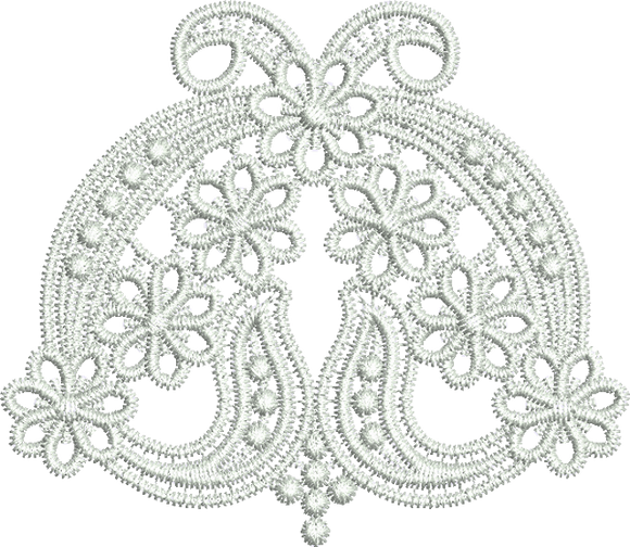 Lace Edge Design Embroidery Motif - 05 - Classic Lace - by Sue Box