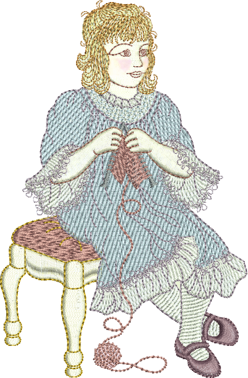 Dressmaker Edna Embroidery Motif - 05 - Creative Little Homemakers by Sue Box