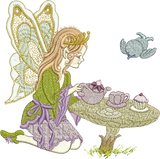 Fairy Tina Embroidery Motif - 05 - Enchanted Fairy Treasures - by Sue Box