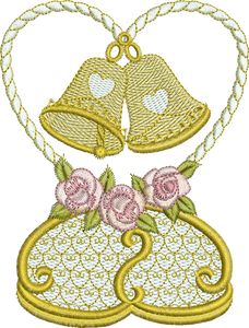 Little Bells Embroidery Motif - 06 - Endearing Embroidery design by Sue Box