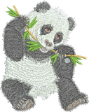 Panda Bear Embroidery Motif - 06 - Zoo Babies by Sue Box