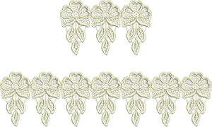 Lace - Tama Lace Borders Embroidery Motif - 06 - Designer Lace - by Sue Box