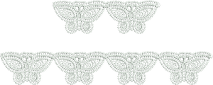 Lace Adiel Borders Embroidery Motif - 07 - Just Lace - by Sue Box