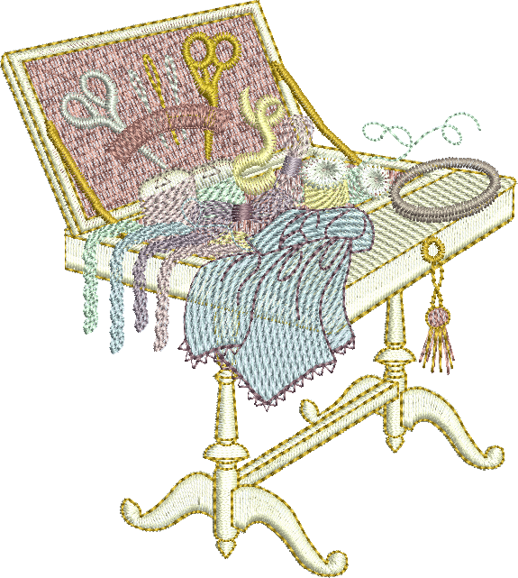 Embroidery Box Motif - 07 - Creative Little Homemakers by Sue Box