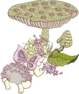 Fairy Emily Embroidery Motif - 07 - Enchanted Fairy Treasures - by Sue Box
