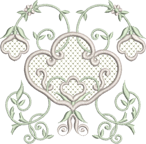 Flowers Design Embroidery Motif - 07 -  Embroidery Inspirations - by Sue Box