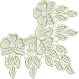 Lace - Tama Lace Corner Embroidery Motif - 07 - Designer Lace - by Sue Box