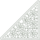Lace Flower Insert embroidery motif - 08 - Classic Lace - by Sue Box