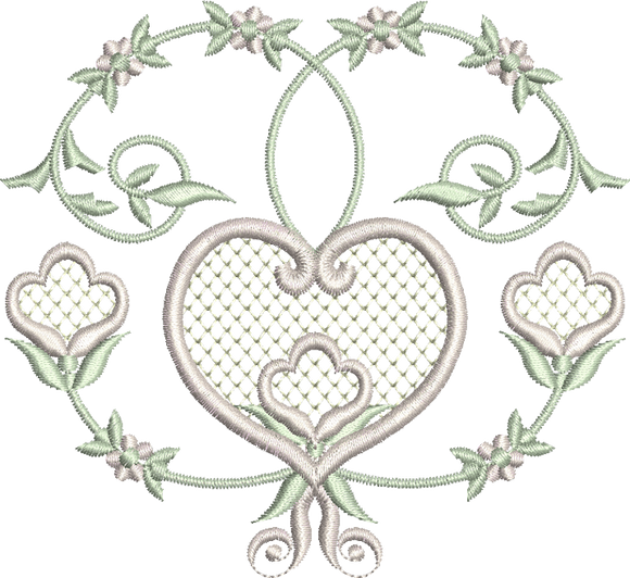 08 - Heart and Flowers Design
