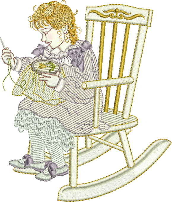 Dressmaker Lily Embroidery Motif - 08 - Creative Little Homemakers by Sue Box