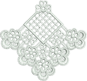 Lace Adah Motif Embroidery Motif - 09 - Just Lace - by Sue Box