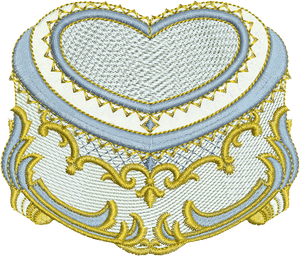 Heart Box Embroidery Motif - 09 - Endearing Embroidery design by Sue Box