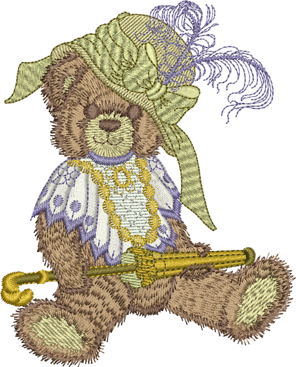 Teddy Bear Katie Embroidery Motif - 09 -  Timeless Teddy Bear Treasures - by Sue Box